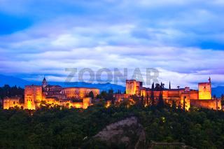 Panorama of Alhambra, Granada, Spain