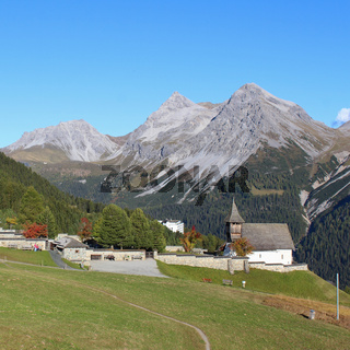 Summer scene in Arosa