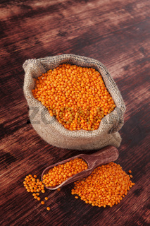 Red Lentils. Healthy eating.