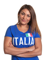 Italian girl with crossed arms