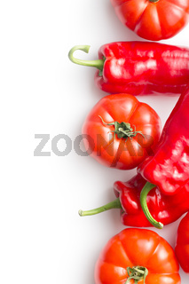 red tomatoes and peppers