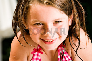 Smiling sweet summer child
