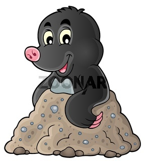 Happy mole theme image 1 - picture illustration.