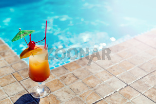 Cocktail at the swimming pool