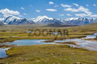 Mountain landscape. Arabel valley, Kyrgyzstan