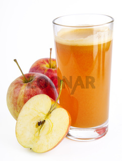 Apple Juice on a background