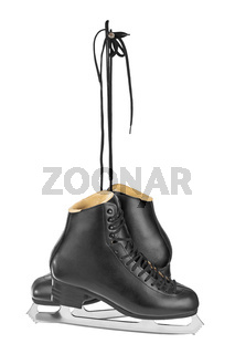 Black figure skates