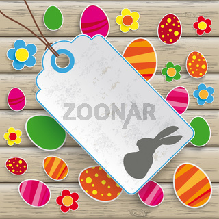 Easter Price Sticker Wood