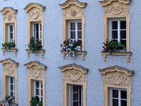 Fensterfassade in Passau