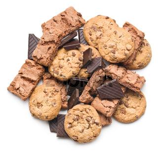 chocolate cookies and brownies