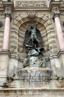 Paris, Fountain Saint-Michel.