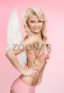angel girl in underwear and wings