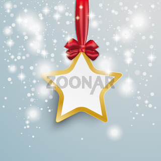 Golden Star Snow Lights Red Ribbon PiAd