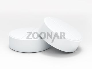 Two white medical pills