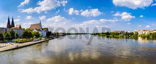 Hochwasser an der Oder, Frankfurt/Oder, Brandenburg, Deutschland
