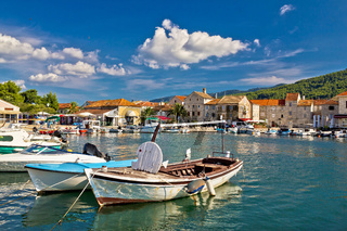 Old wooden boats in Stari Grad