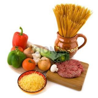 Whole meal spaghetti