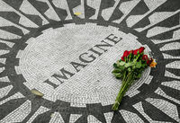 Strawberry Fields, the John Lennon Memorial in Central Park
