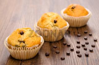 Drei Muffins