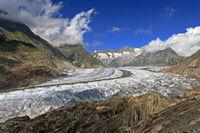 Sicht auf den Aletschgletscher