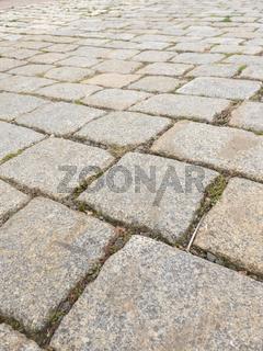Grobes Kopfsteinpflaster aus Granit