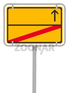 city sign blank