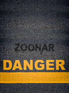 Danger Asphalt Road Markings