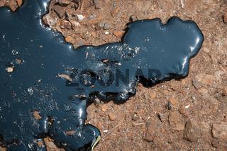 Oily liquid on the earth