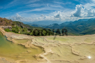 Hierve el Agua, natural rock formations in the Mexican state of Oaxaca