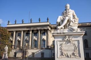 Alexander von Humboldt-Denkmal, Unter den Linden, Berlin, Deutschland