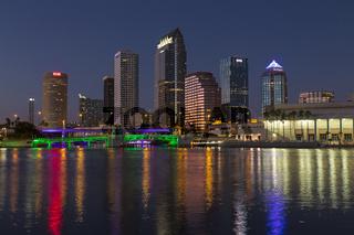 Tampa Skyline at Sunset