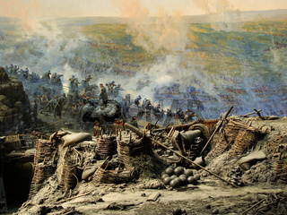 Section of the Siege of Sevastopol panorama, Defence of Sevastopol Museum, Crimea
