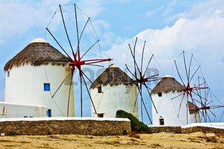 Wind mills of Mykonos.