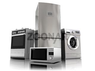 Home appliances. Set of household kitchen technics