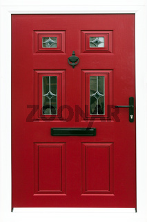 Red Front Door of a London Town House