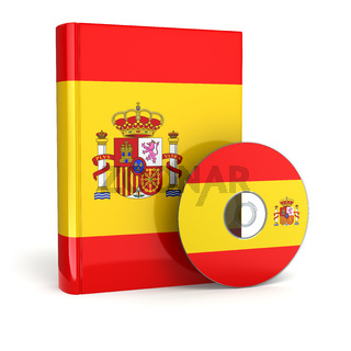 Spanish book  in national flag cover and CD.