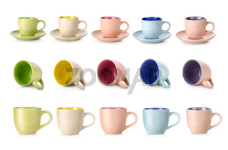 Multi-colored cups