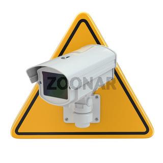 CCTV Camera. Video surveillance sign