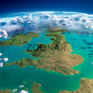 Fragments of the planet Earth. United Kingdom and Ireland