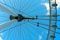 London Eye in London With a Blue sky