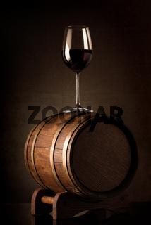 Wine on barrel