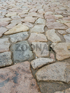 Straßenpflaster aus Granit