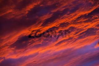 Wolken Abends schraeg