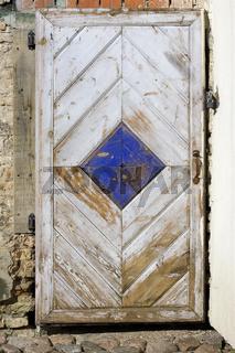 Handmade wooden door