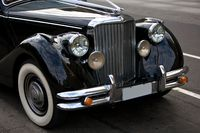 Antique Rolls Royce Emblem on car
