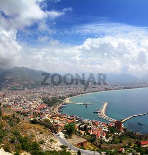 Alanya Turkey landscape from fortress