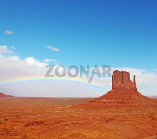 Rainbow in desert