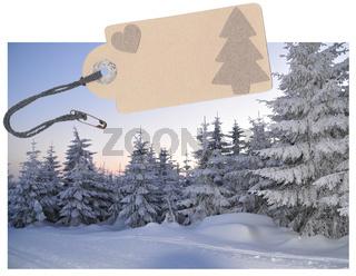 Etikett Winter Wald