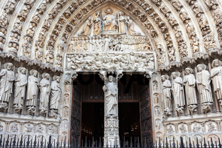 Notre Dame cathedral facade in Paris