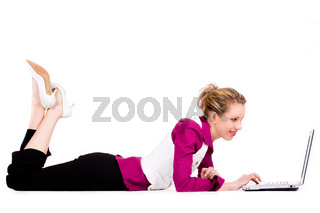 Commercial woman with a laptop